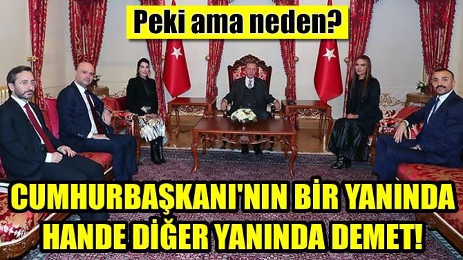 CUMHURBAŞKANI'NIN BİR YANINDA HANDE DİĞER YANINDA DEMET!