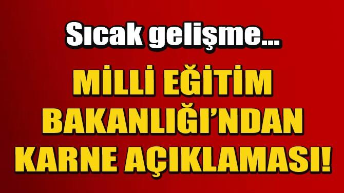 KARNELER E-OKUL ÜZERİNDEN ERİŞİME AÇILDI!