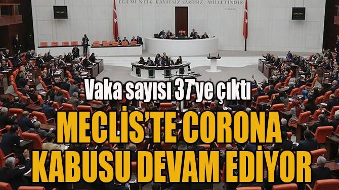 MECLİS'TE CORONA KABUSU DEVAM EDİYOR!