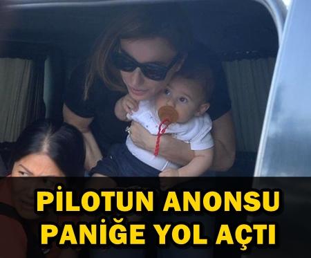 GÜLŞEN UÇAKTA ZOR ANLAR YAŞADI, ''OĞLUMA SARILIP DUA ETTİM''!..