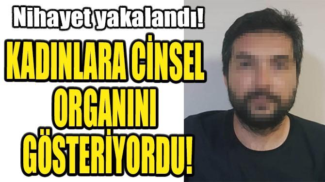 KADINLARA CİNSEL ORGANINI GÖSTERİYORDU!