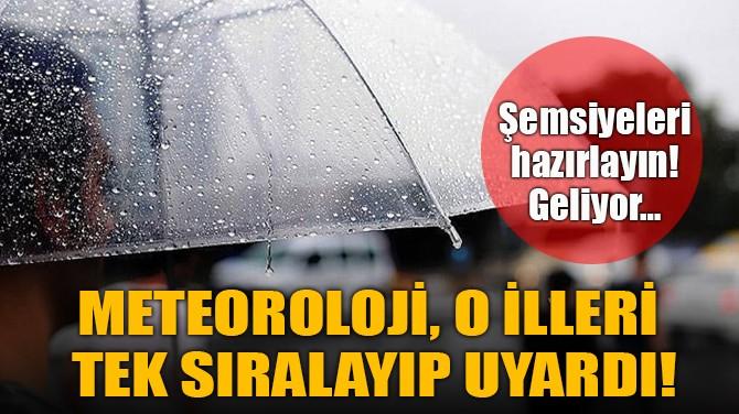 METEOROLOJİ'DEN ÇOK ÖNEMLİ YAĞIŞ UYARISI!