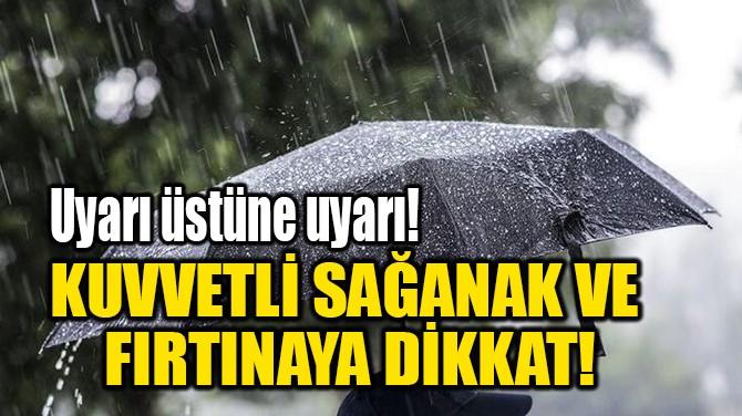 KUVVETLİ SAĞANAK VE  FIRTINAYA DİKKAT!