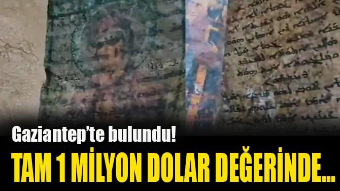 TAM 1 MİLYON DOLAR DEĞERİNDE...