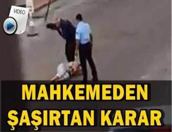 KIRGIZ KADINI DÖVEN POLİS TAHLİYE EDİLDİ!..