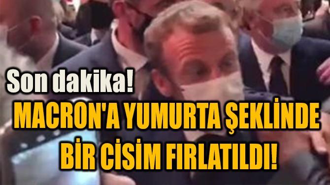 MACRON'A YUMURTA ŞEKLİNDE  BİR CİSİM FIRLATILDI!