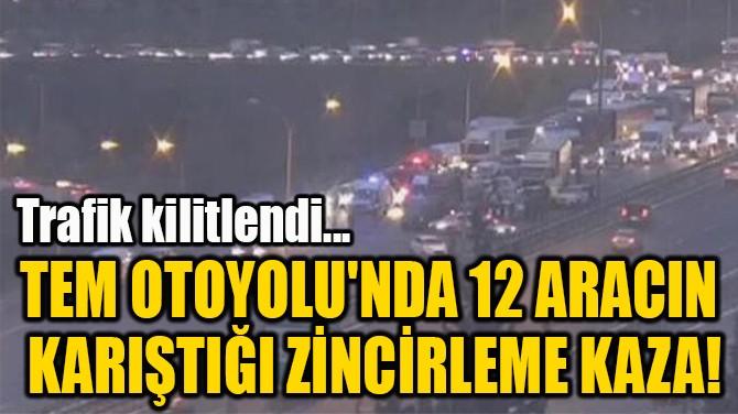 TEM OTOYOLU'NDA 12 ARACIN  KARIŞTIĞI ZİNCİRLEME KAZA!