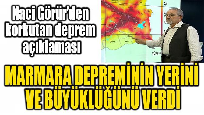 NACİ GÖRÜR'DEN KORKUTAN MARMARA DEPREMİ UYARISI
