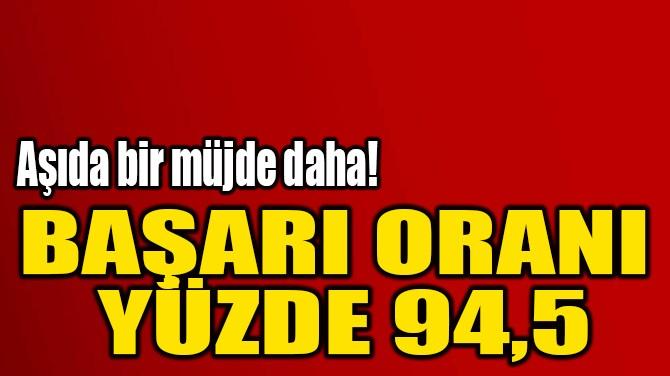 MODERNA'NIN AŞISINDA BAŞARI ORANI YÜZDE 94,5