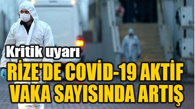RİZE'DE COVİD-19 AKTİF  VAKA SAYISINDA ARTIŞ