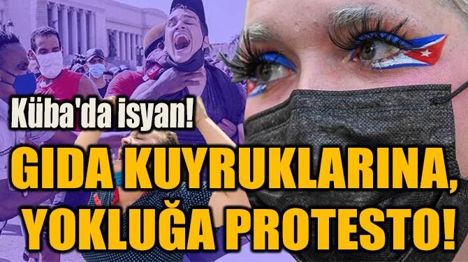 GIDA KUYRUKLARINA,  YOKLUĞA PROTESTO!