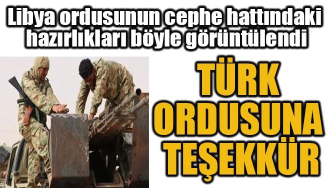 TÜRK  ORDUSUNA  TEŞEKKÜR