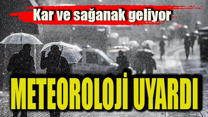 METEOROLOJİ UYARDI