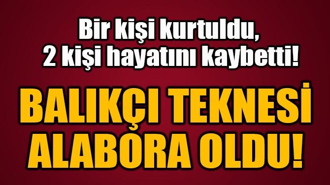 BALIKÇI TEKNESİ ALABORA OLDU!