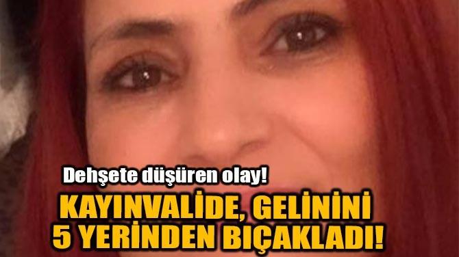 KAYINVALİDE, GELİNİNİ 5 YERİNDEN BIÇAKLADI!
