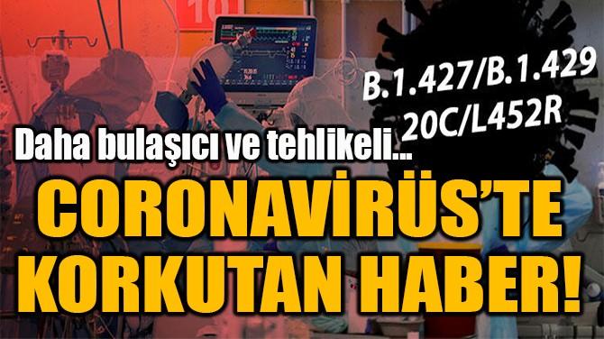 CORONAVİRÜS'TE  KORKUTAN HABER!