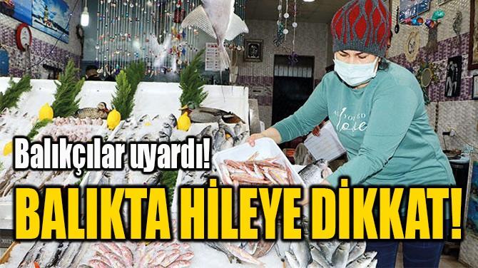 BALIKTA HİLEYE DİKKAT!