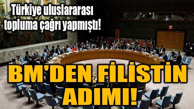 BM'DEN FİLİSTİN  ADIMI!