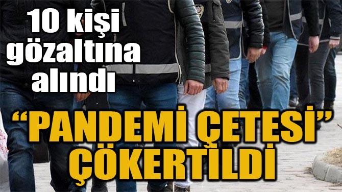 """""""PANDEMİ ÇETESİ"""" ÇÖKERTİLDİ"""