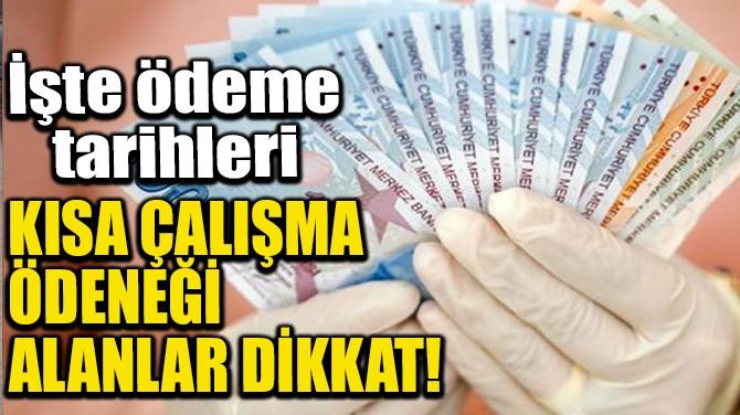 KISA ÇALIŞMA ÖDENEĞİ ALANLAR DİKKAT!