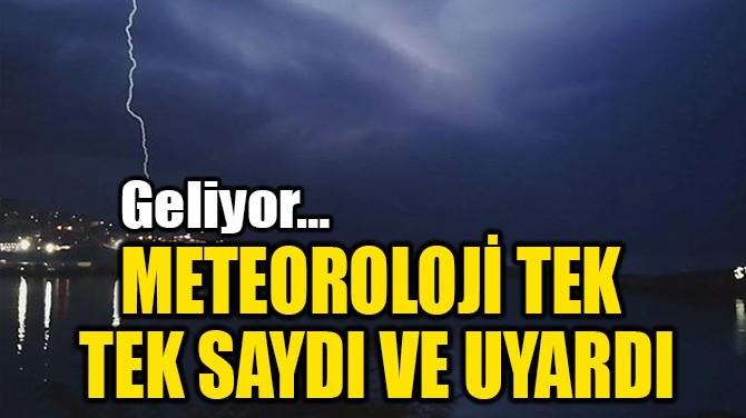 METEOROLOJİ TEK  TEK SAYDI VE UYARDI