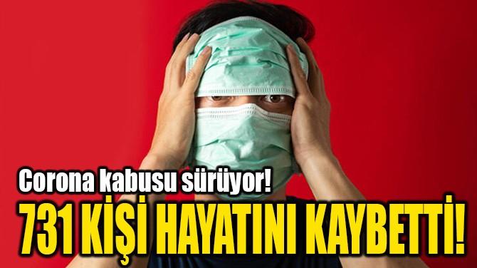 731 KİŞİ HAYATINI KAYBETTİ!