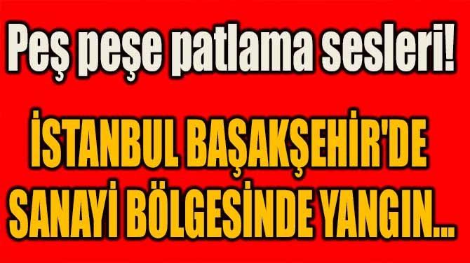 İSTANBUL BAŞAKŞEHİR'DE SANAYİ BÖLGESİNDE YANGIN...