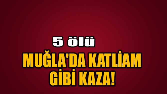 MUĞLA'DA KATLİAM GİBİ KAZA!
