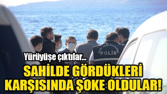 SAHİLDE GÖRDÜKLERİ KARŞISINDA ŞOKE OLDULAR!