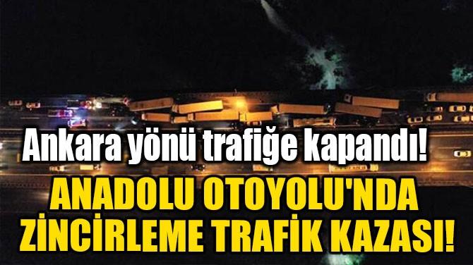 ANADOLU OTOYOLU'NDA ZİNCİRLEME TRAFİK KAZASI!