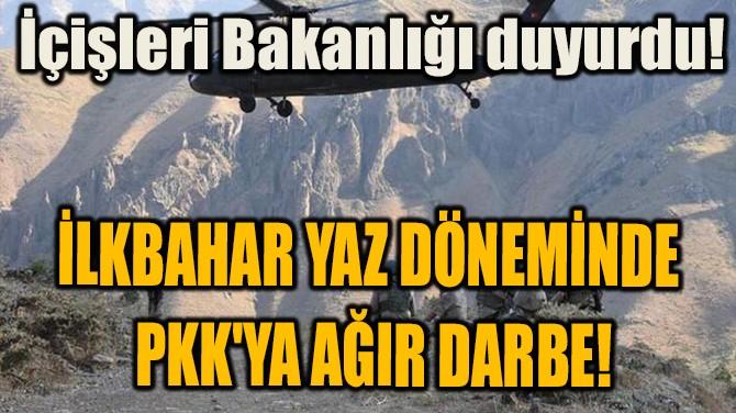 İLKBAHAR YAZ DÖNEMİNDE PKK'YA AĞIR DARBE!