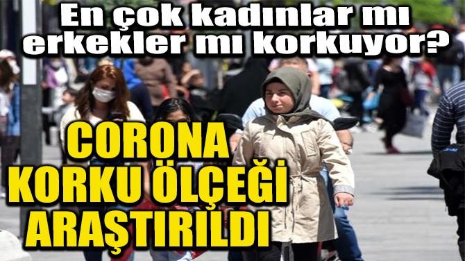 CORONAVİRÜS KORKU ÖLÇEĞİ ARAŞTIRILDI