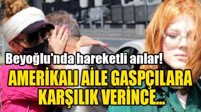 AMERİKALI AİLE GASPÇILARA  KARŞILIK VERİNCE...