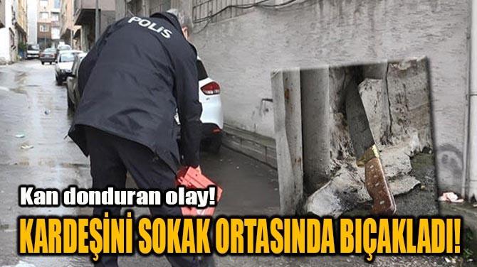 KARDEŞİNİ SOKAK ORTASINDA BIÇAKLADI!