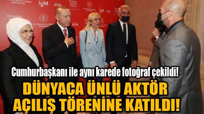 JASON STATHAM AÇILIŞ TÖRENİNE KATILDI!