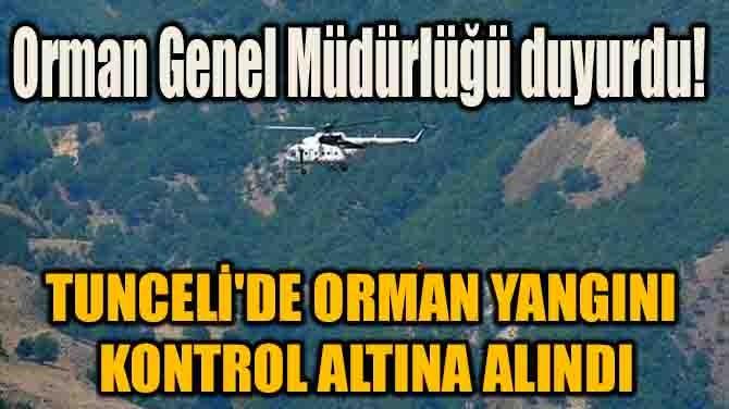 ORMAN GENEL MÜDÜRLÜĞÜ DUYURDU!
