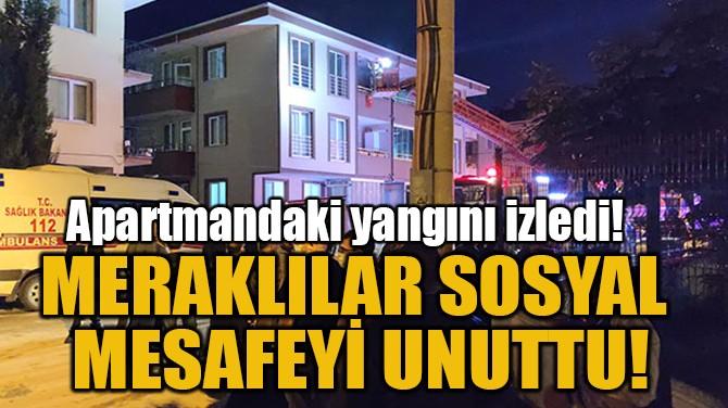 MERAKLILAR SOSYAL MESAFEYİ UNUTTU!