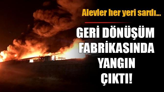 GERİ DÖNÜŞÜM FABRİKASINDA YANGIN ÇIKTI!