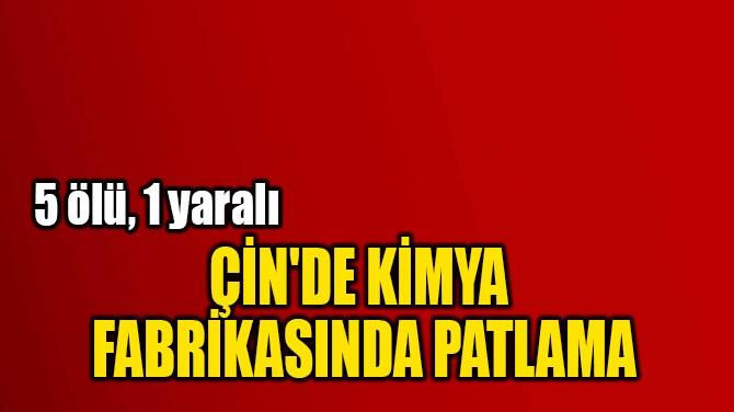 ÇİN'DE KİMYA  FABRİKASINDA PATLAMA