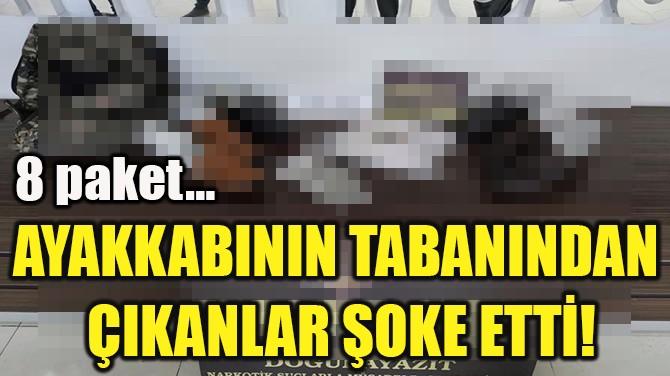 AYAKKABININ TABANINDAN  ÇIKANLAR ŞOKE ETTİ!