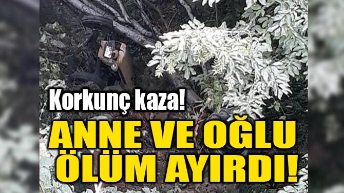 ANNE VE OĞLU ÖLÜM AYIRDI!