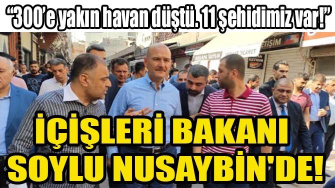 İÇİŞLERİ BAKANI  SOYLU NUSAYBİN'DE!