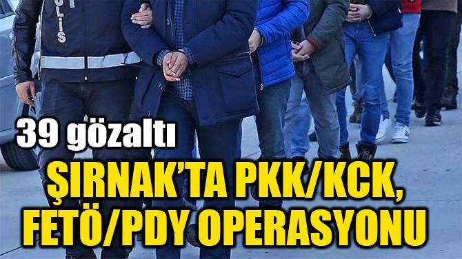 ŞIRNAK'TA PKK/KCK, FETÖ/PDY OPERASYONU