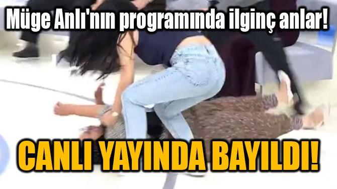 CANLI YAYINDA  BAYILDI!