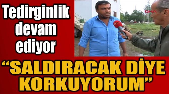 """""""SALDIRACAK DİYE  KORKUYORUM"""""""