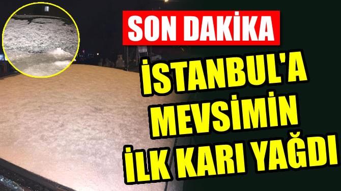 İSTANBUL'A MEVSİMİN İLK KARI YAĞDI
