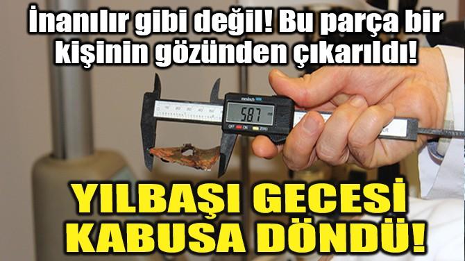 YILBAŞI GECESİ KABUSA DÖNDÜ!