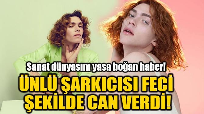 ÜNLÜ ŞARKICISI FECİ  ŞEKİLDE CAN VERDİ!