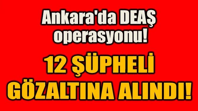 12 ŞÜPHELİ  GÖZALTINA ALINDI!