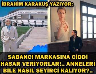 """""""SABANCI"""" MARKASI GÜMBÜR GÜMBÜR AŞAĞILARA İNİYOR, TAKMIYORLAR!"""